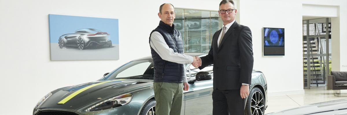 David King, VP and Chief Special Operations Officer of Aston Martin, and Nick Tiffin, Sales Director TenCate Advanced Composites