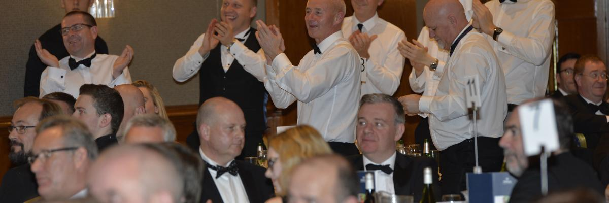 Celebrating a win at the Composites UK Dinner