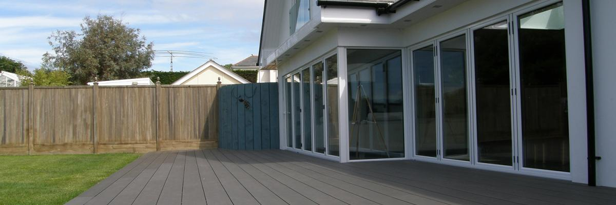 Dura Composites Decking pictured in charcoal on the new online tool