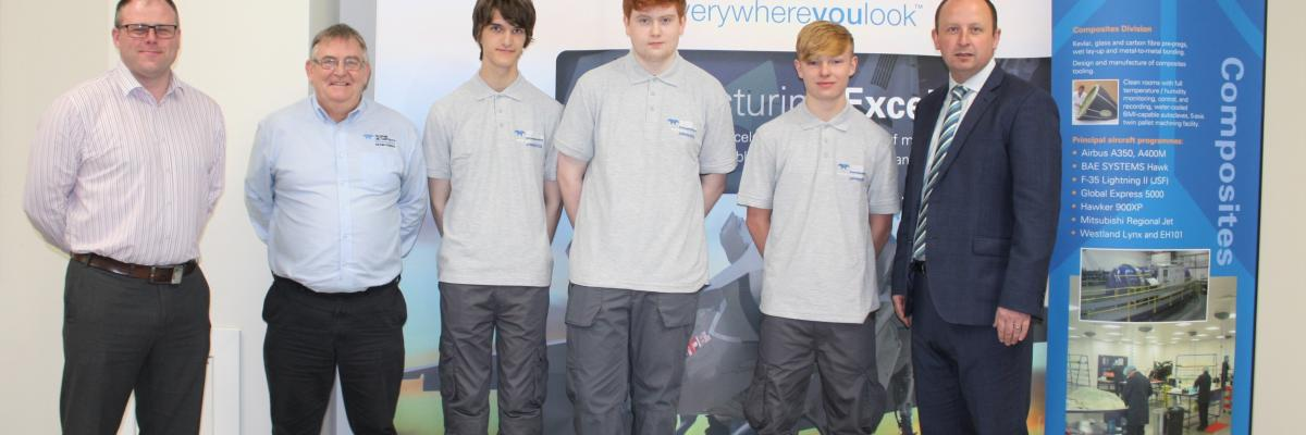 Apprentices at Teledyne CML Composites
