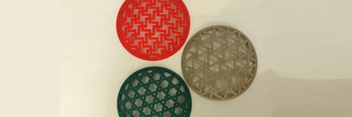 Mechanical metamaterials made with sustainable bio-plastics and wood powder composite